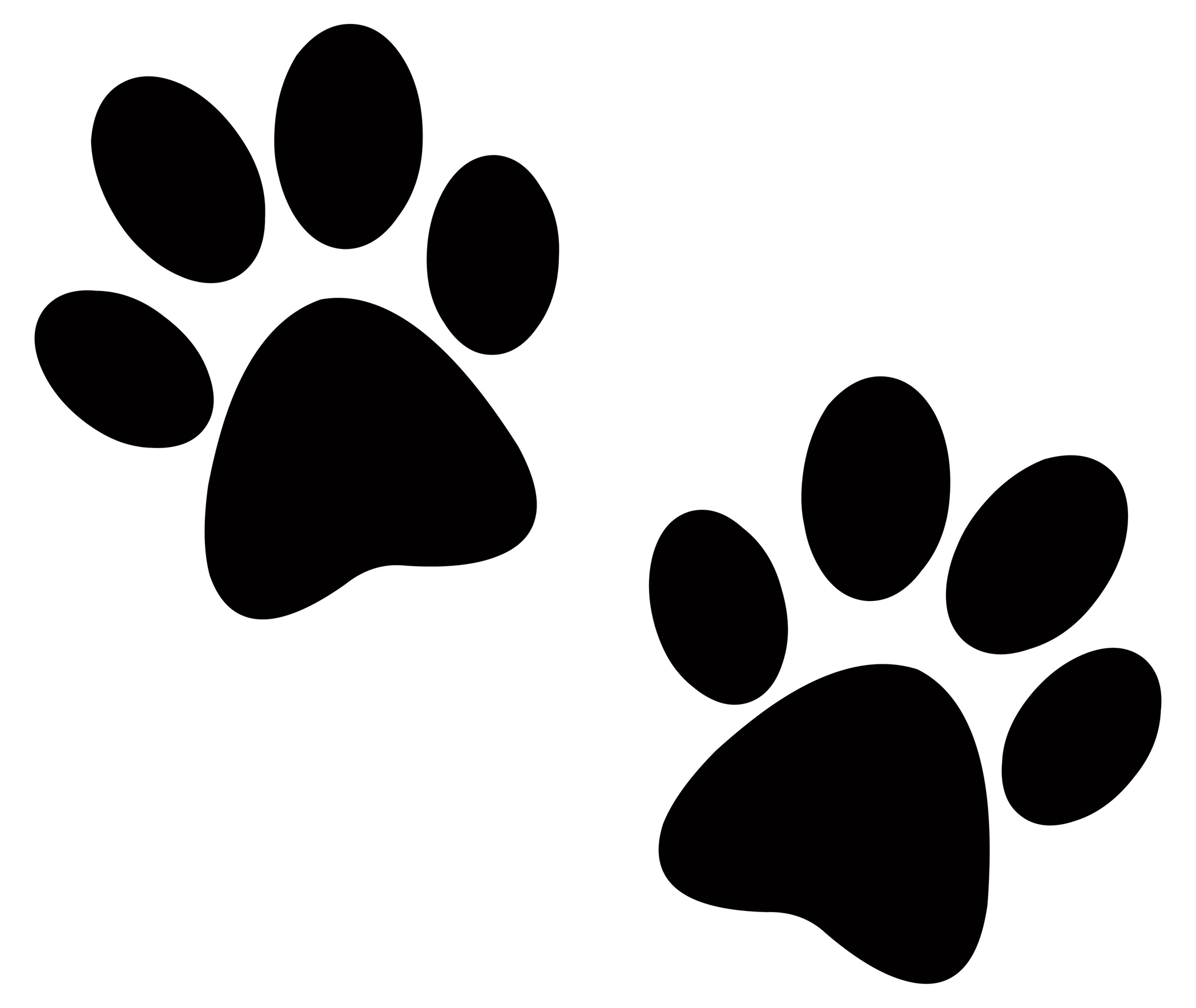 It is a picture of Obsessed Paw Print Printable